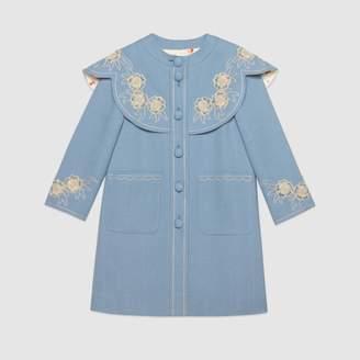 Gucci Children's embroidered viscose coat