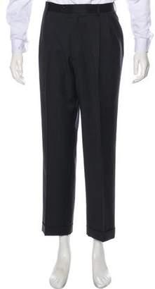 Zanella Flat Front Wool Pants