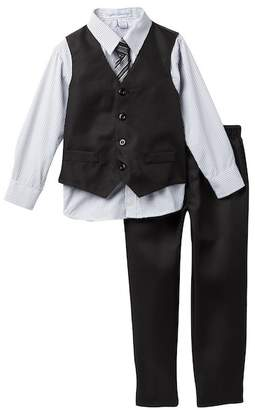 English Laundry 4 Piece Dress Shirt, Tie, Vest & Pants Set (Little Boys)