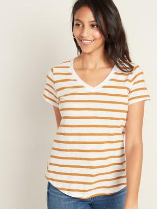 Old Navy EveryWear Slub-Knit Striped V-Neck Tee for Women