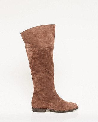 Le Château Italian-Made Suede Knee-High Boot