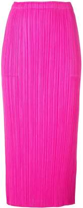 Pleats Please Issey Miyake New Colourful pleated skirt