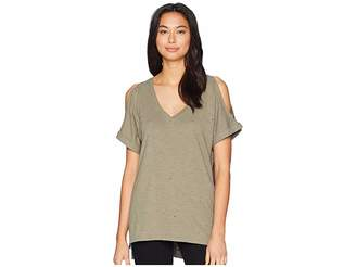 Miss Me Cold Shoulder V-Neck T-Shirt