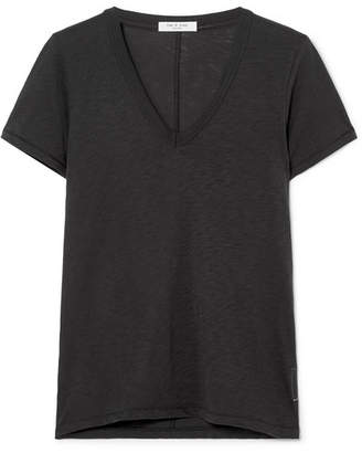 Rag & Bone The Vee Pima Cotton-jersey T-shirt - Black