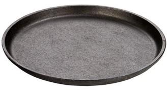 "Lodge 9.25"" Round Handleless Seasoned Cast Iron Serving Griddle, L7OGH3"