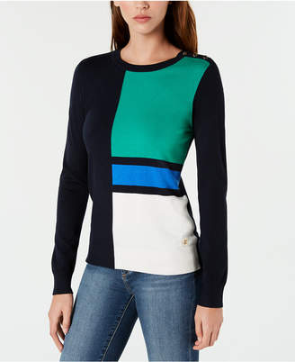 Tommy Hilfiger Colorblocked Crew-Neck Sweater