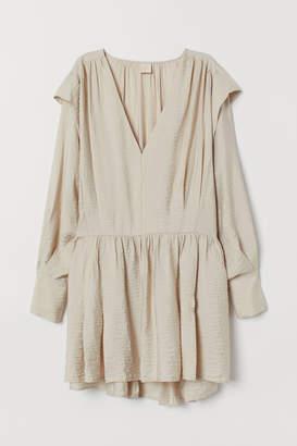 H&M Pleated Dress - Orange