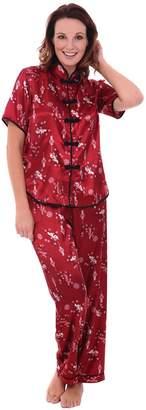 Alexander Del Rossa Womens Satin Pajamas 2a5fc5709