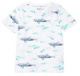 Hatley Little Boy's & Boy's Watercolor Sharks Tee