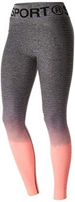 Superdry Women's Sd Sport Seamless Ombre Tights, (Grey/Candy Coral NJ5), 14