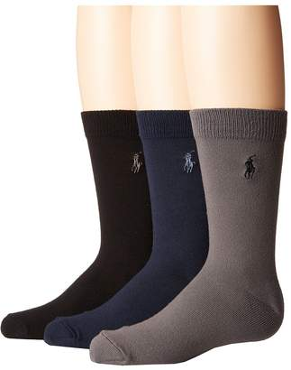 Polo Ralph Lauren Supersoft Flat 3-Pack Men's Crew Cut Socks Shoes