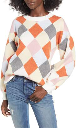 J.o.a. Diamond Knit Pullover