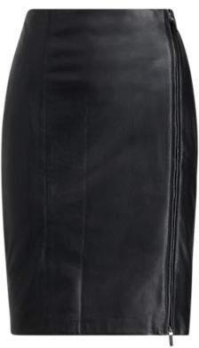 Ralph Lauren Leather Pencil Skirt Polo Black 16