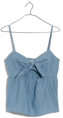 Madewell Tie Front Keyhole Chambray Camisole