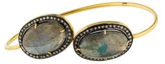 Amrapali 14K Diamond & Labradorite Cuff Bracelet