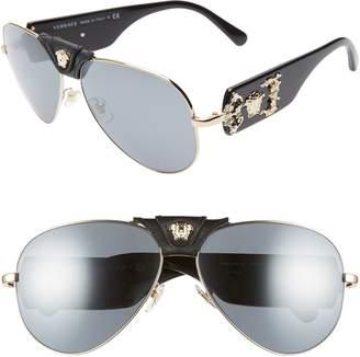 Versace 62mm Aviator Sunglasses