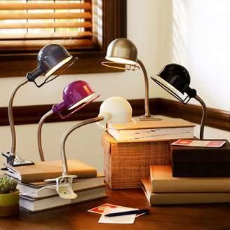 Pottery Barn Teen Hi-Light Clip Light + CFL Bulb, White