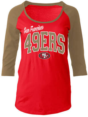 5th & Ocean Women's San Francisco 49ers Colorblocked Raglan T-Shirt