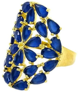 Savvy Cie 18K Yellow Gold Sapphire Cocktail Ring
