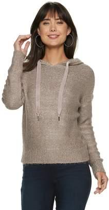 JLO by Jennifer Lopez Women's Sequin Hooded Sweater