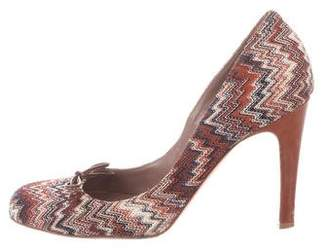 Missoni Knit Round-Toe Pumps