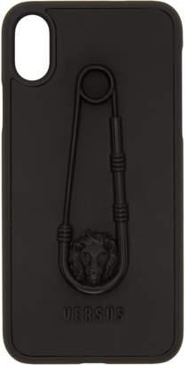 Versus Black Safety Pin iPhone X Case