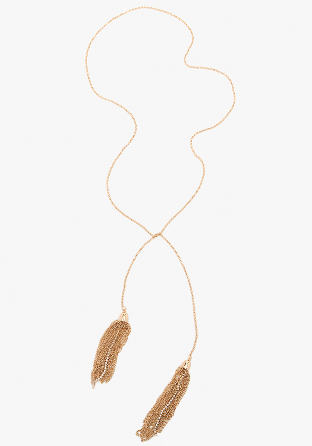 Bebe Tassel Strand Necklace