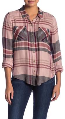 Lucky Brand Button Down Long Sleeve Plaid