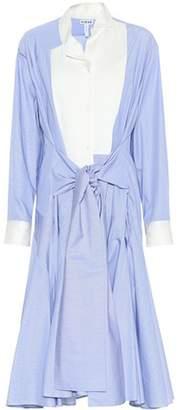 Loewe Striped cotton poplin shirt dress