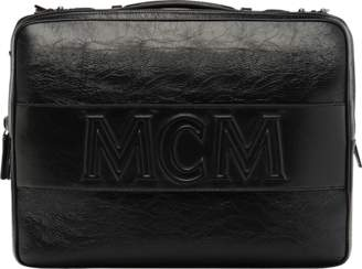 MCM Cubism Briefcase In Foiled Leather