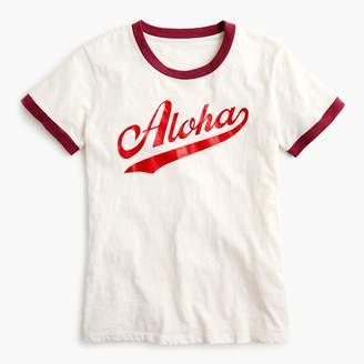 """J.Crew """"Aloha"""" ringer T-shirt"""