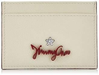 Jimmy Choo ARIES Linen Grainy Calf Leather Card Holder