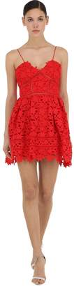 Self-Portrait Azalea Floral Lace Mini Dress