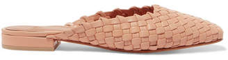 LOQ Galia Woven Leather Slippers - Neutral