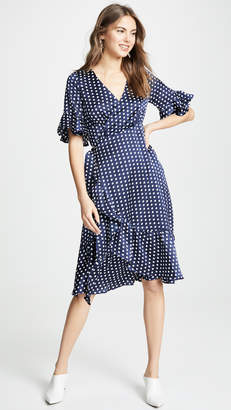Line & Dot Elsie Ruffle Wrap Dress