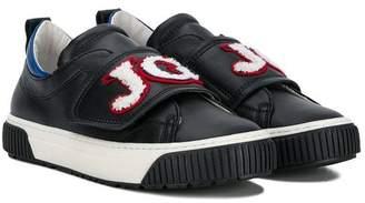 John Galliano (ジョン ガリアーノ) - John Galliano Kids logo patch slip on sneakers
