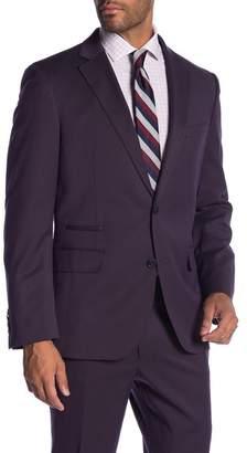 Co SAVILE ROW Rivington Purple Two Button Notch Lapel Modern Fit Gab Jacket