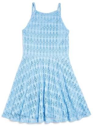 Sally Miller Girls' Sleeveless Diamond-Lace Dress - Big Kid