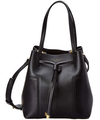 Tory Burch Block-T Small Leather Bucket Bag
