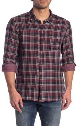 John Varvatos Plaid Reversible Trim Fit Shirt
