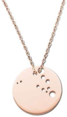 Ekria Capricorn Zodiac Necklace Shiny Rose Gold
