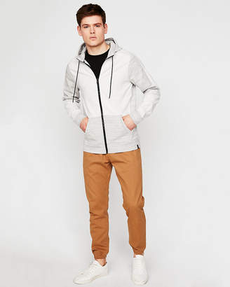 Express Ponte Fleece Zip-Up Hoodie