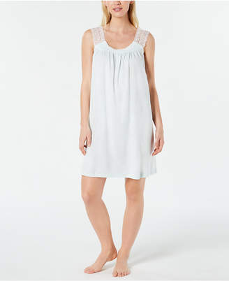 Charter Club Lace Trim Long Soft Knit Nightgown