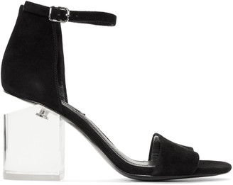 Alexander Wang Black Lucite Abby Sandals $495 thestylecure.com
