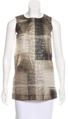 Marni Silk & Linen Sleeveless Top