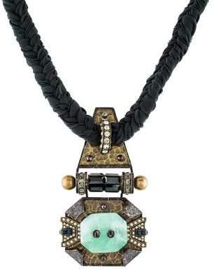 Lanvin Fluorite & Crystal Chiffon Necklace