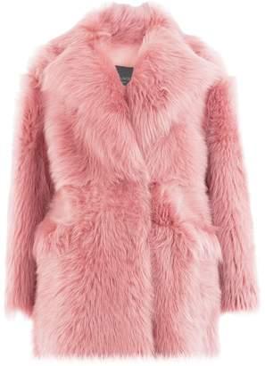 Blancha oversized shearling coat