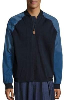 Suket Dhir Handcrafted Merino Wool Bomber Jacket