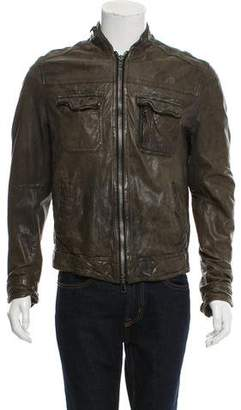 AllSaints Conroy Leather Jacket