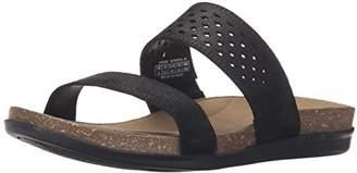 Rockport Women's Total Motion Romilly Slide Black Cas Suede Sandal